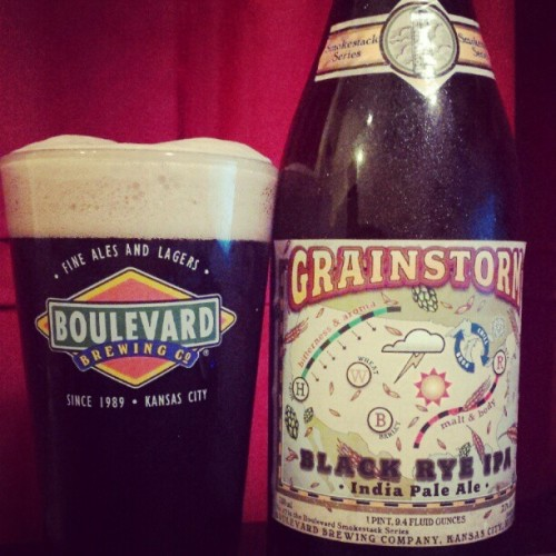 Grainstorm by Boulevard, gorgeous Black IPA