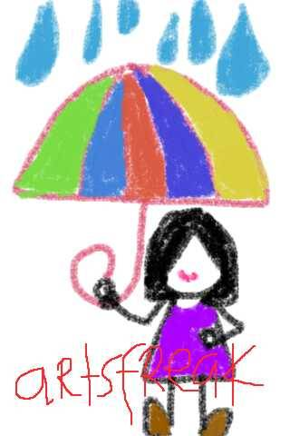 Under my umbrella [I love rain] :)