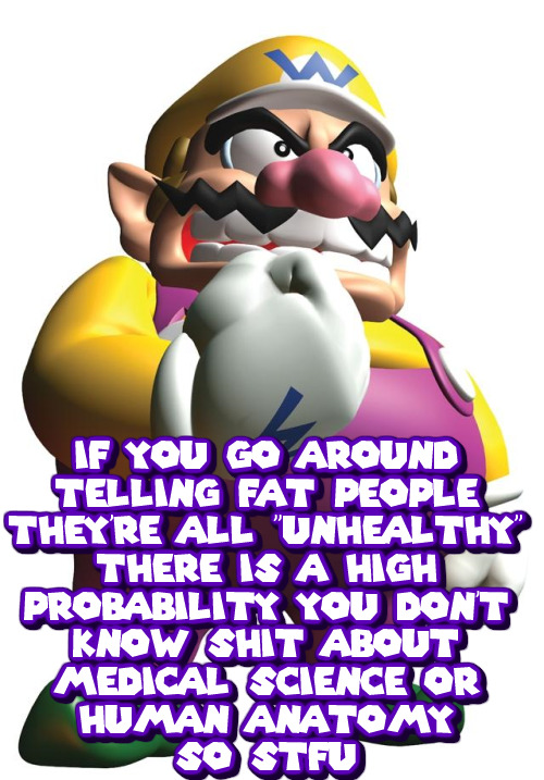 Wario does not mean STFU as in shut the fuck up, Wario means STFU as in Wario will STUUF-U in a locker for being a fucking ignorant nerd.