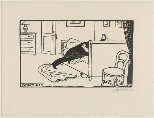 centuriespast:   Murder Félix Vallotton (French, 1865–1925) (1893). Woodcut MoMA