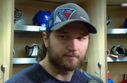 Rick Nash has been pretty invisible during the playoffs but his playoff beard certainly isn't. The only thing we recommend here is a serious chop because at this point his hair is looking a bit mullety, amirite?