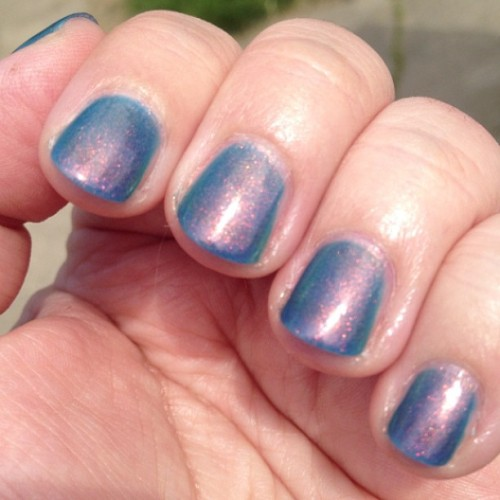 The gorgeous @ninja_polish Mystic Glacier is enjoying the sunshine today #nailpolish #indiepolish