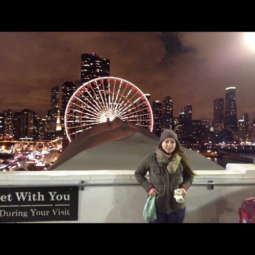 sshandy:  amandawint:  me and the Windy City. (at Navy Pier)  Oh hi. I miss you so.  omg, hi. come over.