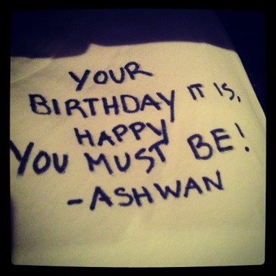 #Yoda #birthday #talk brought to you by @ashanirwan. #StarWars #love all the way