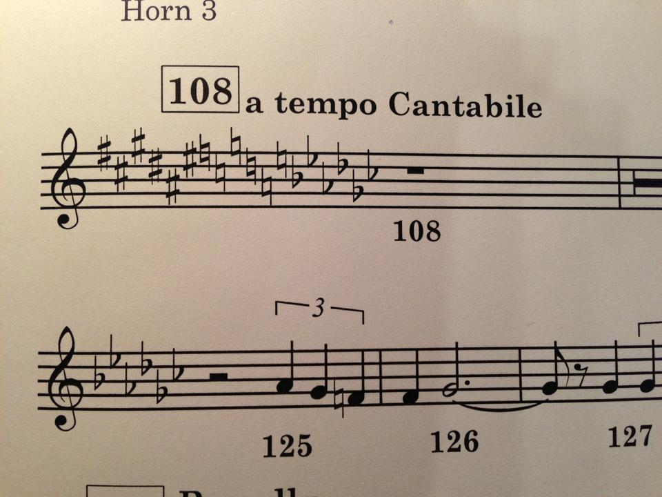 bachmaninovsky:  gestopft:  (via Hornists of the National Symphony) Oh no.  unnecessarily ridiculous key changes are my favorite  2313.  unnecessary is an understatement, which I think is why I like it so much!