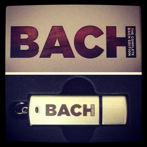 The complete works of JS Bach on a USB drive. Pretty cool. #Bach #ClassicalMusic #USB #BoxSet