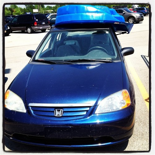 Hipster car wears fedora (at Walmart Supercenter)