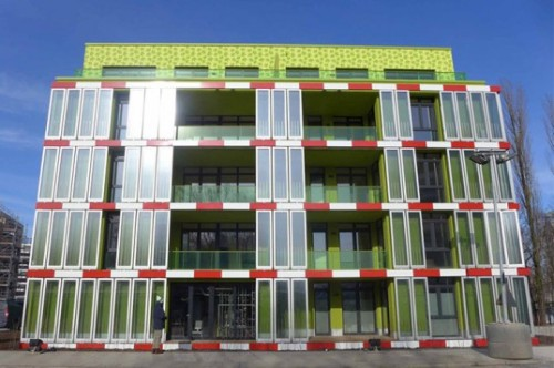 This algae-powered building in Hamburg is truely green! futurescope:  The World's First Algae-Powered Building Opens in Hamburg via inhabitat:  The world's first algae-powered building just opened in Hamburg! Dubbed the BIQ House, the project features a bio-adaptive algae facade and it will serve as a testing bed for sustainable energy production in urban areas and self-sufficient living buildings. International design firm Arup worked with Germany's SSC Strategic Science Consultants and Austria-based Splitterwerk Architects to develop the BIQ House, which launched as part of Hamburg's International Building Exhibition.  [read more] [IBA Hamburg] [BIQ House]