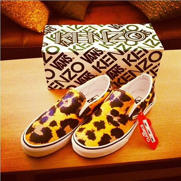 #kenzo#vans#animal#print#black#gold