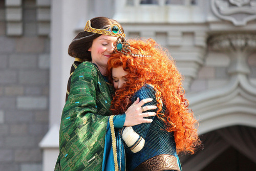 "disneyruleseverythingaroundme:  Merida from ""Brave"" becomes 11th Disney Princess at Walt Disney World by insidethemagic on Flickr."