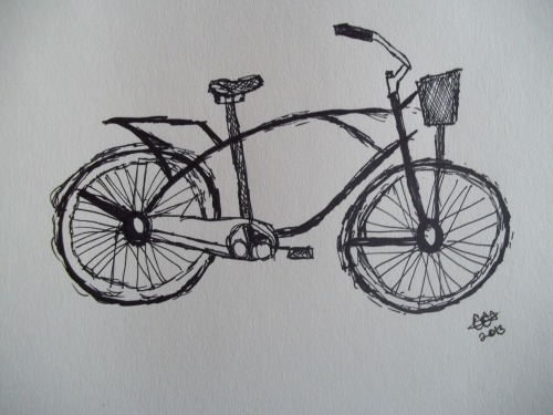 teaandowlss:  Bicycle Sharpie http://society6.com/greenowlsand