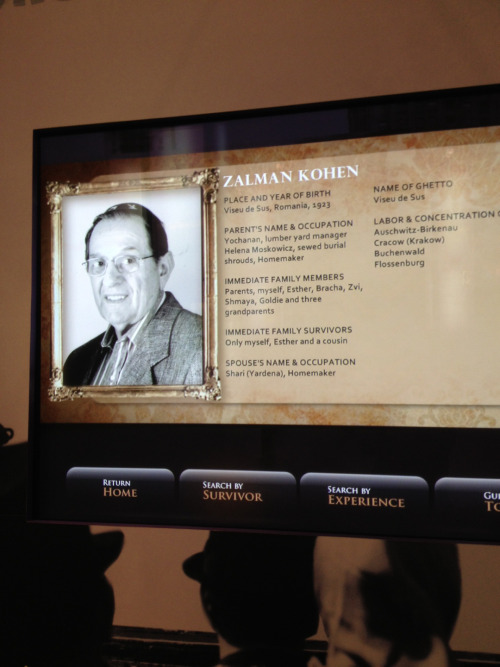 My grandfather in the Portraits of Honor exhibit at the Holocaust Memorial Center in Detroit. More on International Holocaust Remembrance Day. Photo: Ilana Liss.