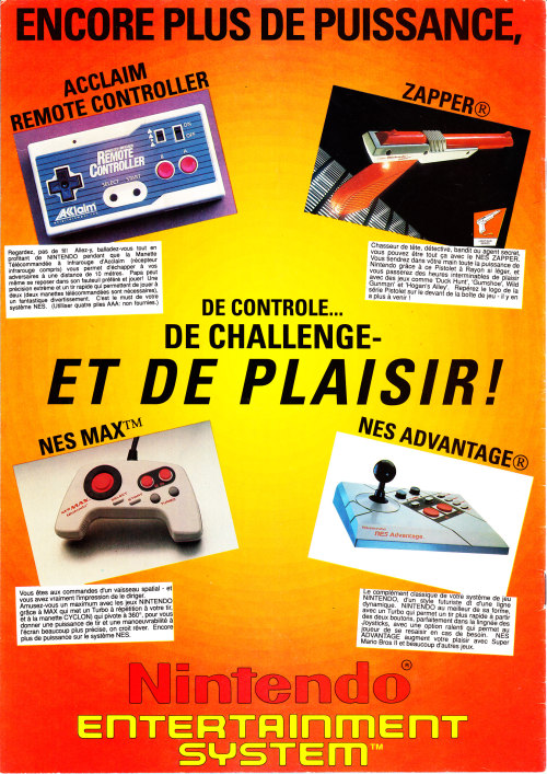NES peripheral advert.