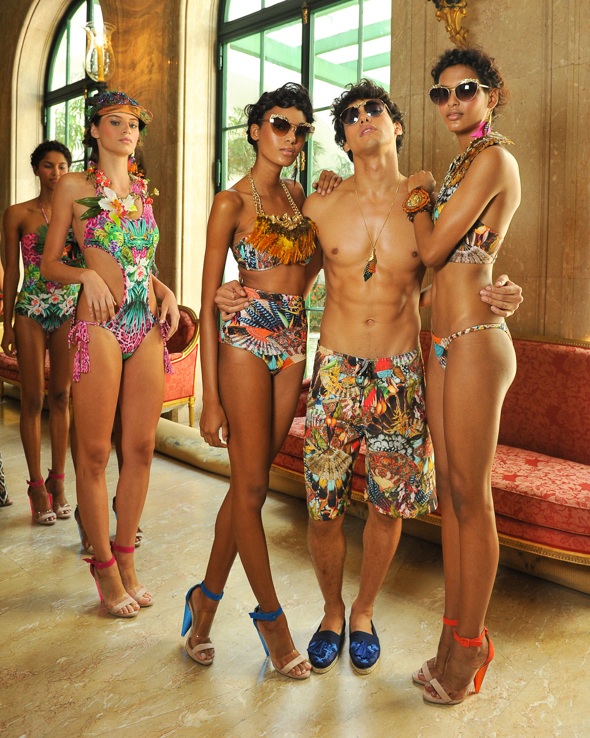 Backstage at Blue Man S/S 2014 for Rio de Janeiro Fashion Week