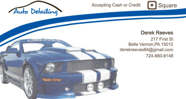 Business card I designed for a good friend for he's detailing business.