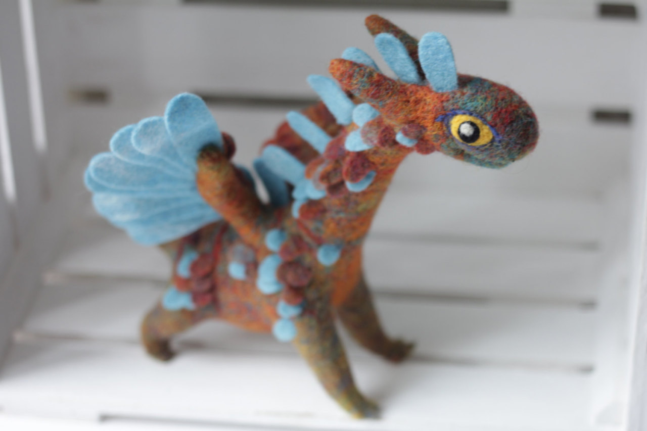 crafts etsy dragons felt soft sculpture sosuperawesome • - photo#11