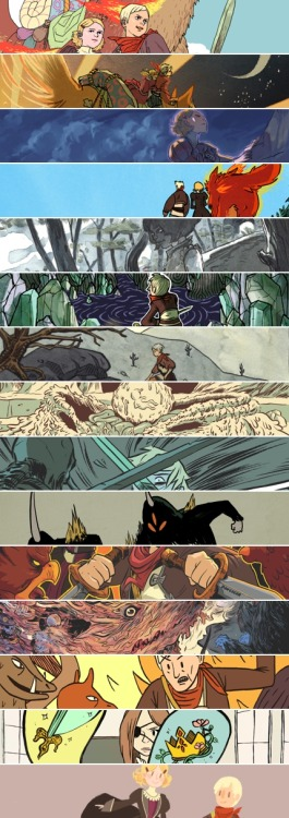 (Click to enlarge!) Here's a sample of every artist in Archaia's Spera: Vol. 1. From top to bottom, they are:Afu Chan Kyla Vanderklugt Hwei Lin Lim Emily Carroll Olivier Pichard Jordyn Bochon Cécile Brun Luke Pearson Leela Wagner Matt Marblo Don Cocor Paul Maybury Jack Teagle Sam Beck Gigi Digi Spera: Vol. 1 is available wherever books are sold, including online retailers such as Amazon.