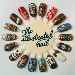 theillustratednail:  Merry Christmas from The Illustrated Nail! Last chance to get your Christmas nail art done this Friday and Saturday @StuntDolly . Call 020 7018 2191 to make an appointment.