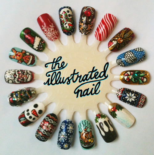 Merry Christmas from The Illustrated Nail! Last chance to get your Christmas nail art done this Friday and Saturday @StuntDolly . Call 020 7018 2191 to make an appointment.