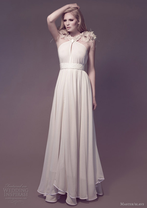 http://www.weddinginspirasi.com/2012/12/27/master-slave-wedding-dresses-flora-galaxies-bridal-collection/
