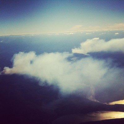 Bushfires burning in the Blue Mountains casting smoke towards Sydney (at Blue Moutains)