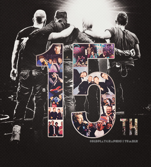 coldplaygraphics:  Happy 15th Birthday, Coldplay!