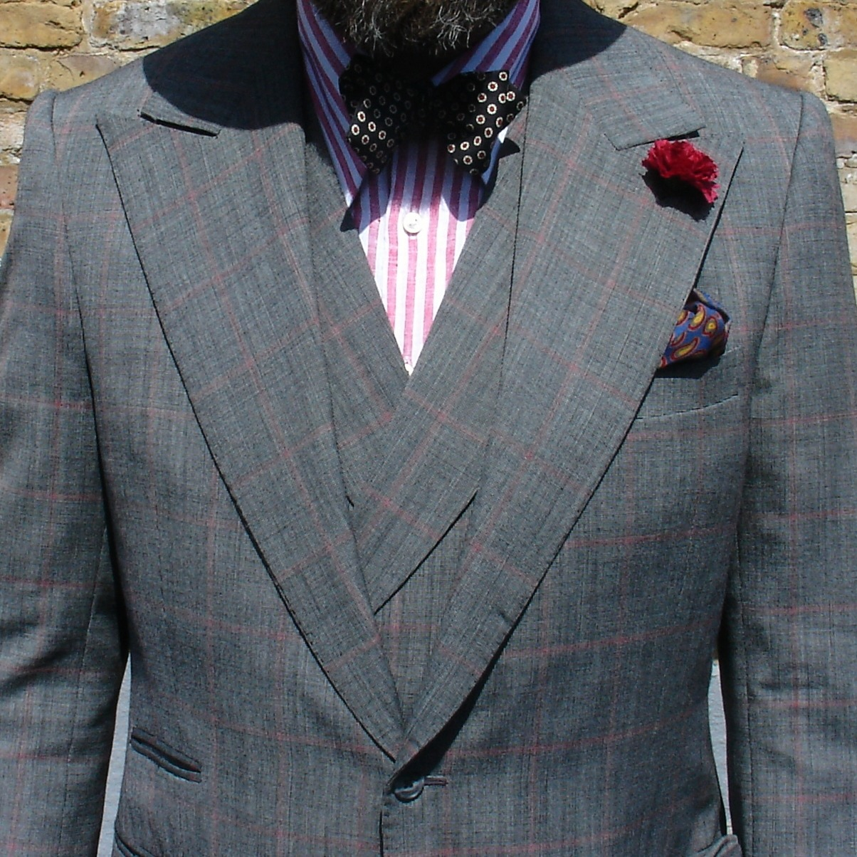 DandyChecks  Three parts of Four ( there's a single-breasted waistcoat as well! ) British Bespoke from Cad & the Dandy