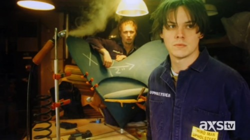 minnienoel:  young jack white - shots screened from dan rather interview.