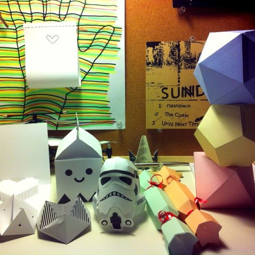 #new #hobby #paper #papercraft #3D #cut #score #fold #glue #milk #box #stormtrooper #helmet #candy #heart #kaleidoscope #sundae