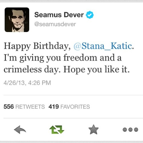 katebeckettswift:  #happybirthdaystana #seamusdever #stanakatic