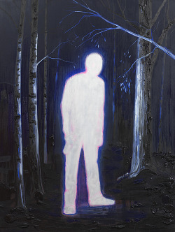 hijaktaffairs:  kim dorland ghost of a drunk (self portrait), 2013 oil and acrylic on jute over wood panel, 96 x 72