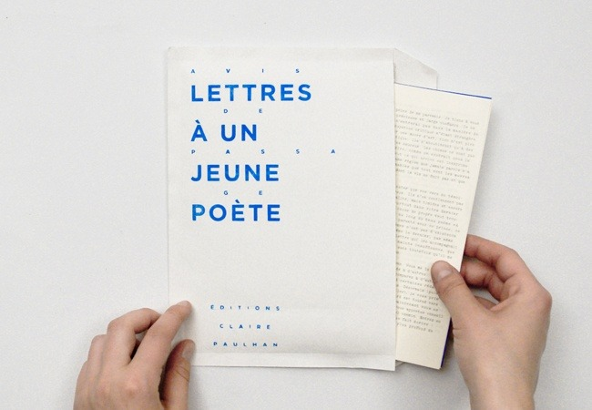 Sarah Kremer and Emmanuel Martinet Re-design of Letters To A Young Poet by Rainer Maria Rilke