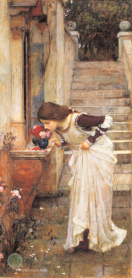 verite-cinema:  fleurdulys:  The Shrine - John William Waterhouse 1895  Please follow me for similar photos! I check out every blog that follows or reblogs :) And I'm always up for a chat, so inbox me xx