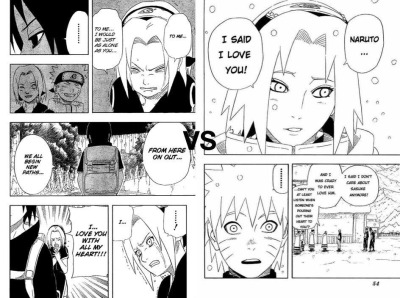 flamemaster92:  Like for Sakura's confession to Naruto (NaruSaku) Reblog for Sakura's confession to Sasuke (SasuSaku)