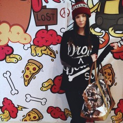 dropdeadclothing:  North bobble hat - boner jumper - okami bag 👍