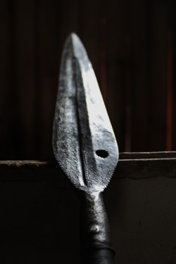 heathenharnow:  Swedish Iron age spearheadfrom our local history museum.© Heathen Harnow - please do not remove credit