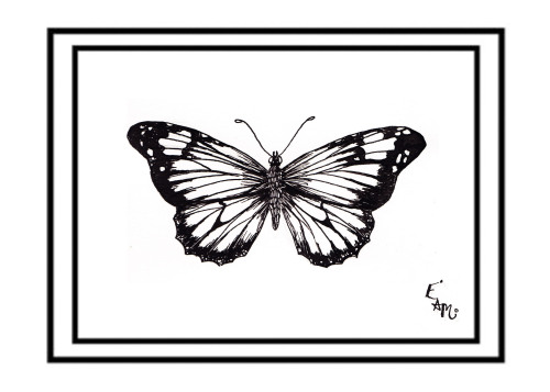 'Simple black ink Butterfly'  print now up for sale.  I always had a thing for butterflies and this is just a simple ink illustration inspired by a piece of art i done for someone very close to me, hope you like this? Its only £5 per a print!!! where to purchase it? click on this link below :) http://missmeaneys.bigcartel.com/product/simple-black-ink-butterfly-print