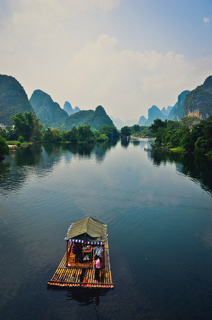uncommonjones:  flumens:  A journey unknown by A. adnan on Flickr.  Yangshuo,Guangxi,China