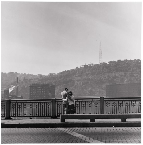 Couple by the Monongahela River, Pittsburgh, 1950 Elliott Erwitt