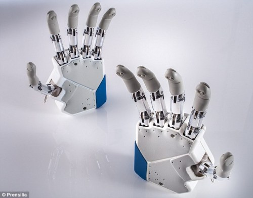 "Bionics with a sense of touch! What a breakthrough for cybernetics! neurosciencestuff:  A sensational breakthrough: the first bionic hand that can feel The first bionic hand that allows an amputee to feel what they are touching will be transplanted later this year in a pioneering operation that could introduce a new generation of artificial limbs with sensory perception. The patient is an unnamed man in his 20s living in Rome who lost the lower part of his arm following an accident, said Silvestro Micera of the Ecole Polytechnique Federale de Lausanne in Switzerland. The wiring of his new bionic hand will be connected to the patient's nervous system with the hope that the man will be able to control the movements of the hand as well as receiving touch signals from the hand's skin sensors. Dr Micera said that the hand will be attached directly to the patient's nervous system via electrodes clipped onto two of the arm's main nerves, the median and the ulnar nerves. This should allow the man to control the hand by his thoughts, as well as receiving sensory signals to his brain from the hand's sensors. It will effectively provide a fast, bidirectional flow of information between the man's nervous system and the prosthetic hand. ""This is real progress, real hope for amputees. It will be the first prosthetic that will provide real-time sensory feedback for grasping,"" Dr Micera said. ""It is clear that the more sensory feeling an amputee has, the more likely you will get full acceptance of that limb,"" he told the American Association for the Advancement of Science meeting in Boston. ""We could be on the cusp of providing new and more effective clinical solutions to amputees in the next year,"" he said."