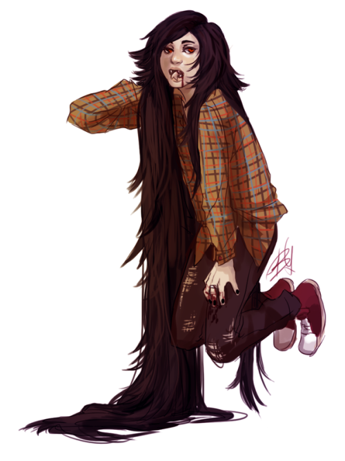 askbubblinetime:  Marceline the Vampire Queen by ~Bliss41