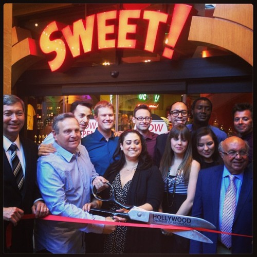 Yesterday's ribbon cutting at Sweet! Sponsored by Hollywood Chamber of Commerce. (at Sweet! Hollywood)