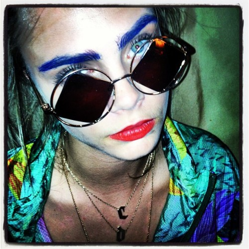 iamcaradelevingne:  ITS TIME FOR BLUE EYEBROWS!