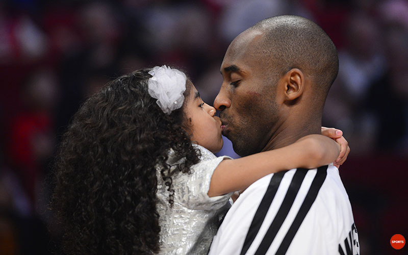 usatodaysports:  ADORABLE: Kobe steals a kiss at halftime. Here's more on Kobe's time with his daughter.
