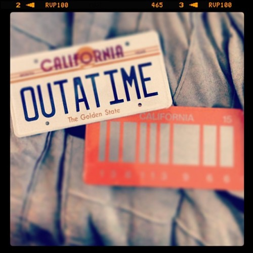 I love these license plates! Thank you @_lifeintechnicolor #backtothefuture #outatime #2015 #backtothefuturefan #backtothefuturefanatic #awesome