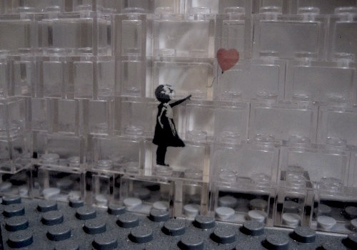 s-stevens:  Banksy on Legos