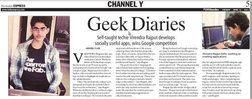 Featuring in Indian Express