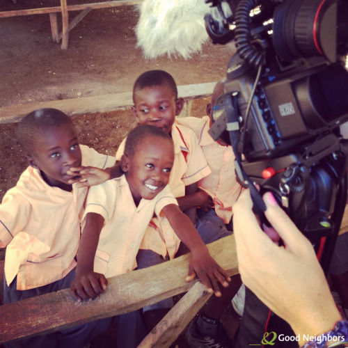 We sent a filming team to Haiti last week! We had a great time meeting the children and filming their stories, and can't wait to share the videos with you soon. Until then, we'll be sharing a few pictures each day from our trip…starting with this one, which was taken during our first visit to a school in Oranger, Haiti. Loved spending time with these bright, adorable kids. Learn more about our organization.