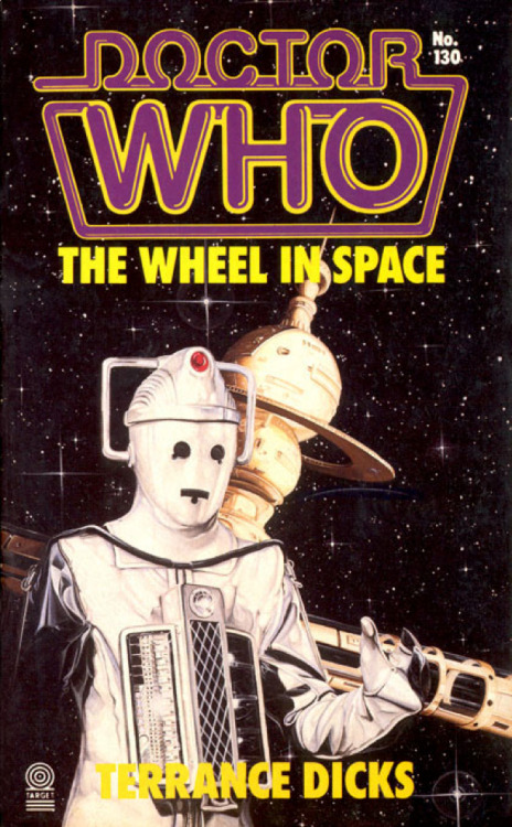 """The Wheel in Space"" by Terrance Dicks Interesting fact about this novelization- it is very difficult to secure a copy! Due to a warehouse fire, there were only 23,000 copies in circulation! So if you own a copy, keep it, or at least know it's value. :)"