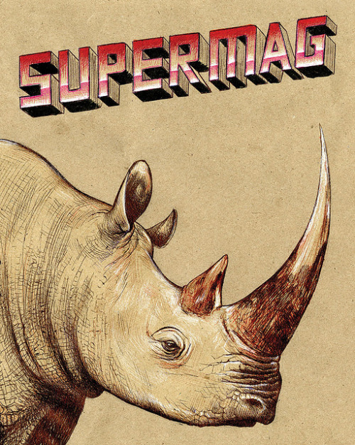 Supermag rhino on Flickr. I'll be in Toronto this weekend - TCAF. Adhouse Books is table 117 and I'm at table 262. We'll have copies of Supermag: http://adhousebooks.com/books/supermag.html If you're traveling to TCAF, you'll want to download some episodes of Tell Me Something I Don't Know to listen to en route: http://jimrugg.tumblr.com/tagged/TMSIDKS